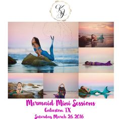 Kyiera Jones Photography most requested session is finally here for grabs! Join me in Galveston, TX for a session your daughter can only dream of!Mermaid tails will be provided!Sessions will last 30 minutes and will be dreamy