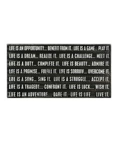 Take a look at this Black 'Life Is Life' Box Sign on zulily today!