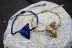 Triangle macrame bracelet Minimal style
