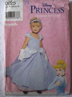 Simplicity Costume Pattern 0625 Disney Princess by knitNstitchery, $24.99
