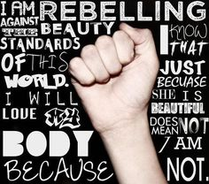Rebel against beauty standards. We are all beautiful. #freespo #bodypositive #realbeauty