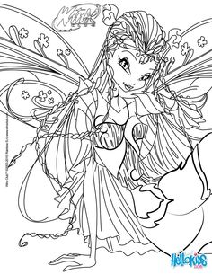 Flora, transformation Bloomix coloring page