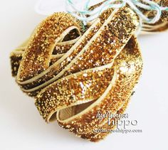 Shimmer Gold Ribbon  3 Yards by hydrangeahippo on Etsy, $2.78
