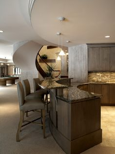 Adorable Contemporary Home In Classic Touch Ideas: Modern Home Bar Curved  Table Cantera Elegance House