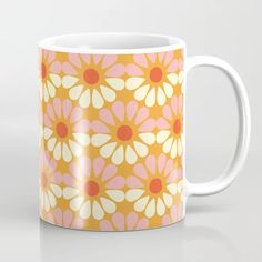 Buy Retro Flowers Vintage Geometric Coffee Mug by camila. Worldwide shipping available at Society6.com. Just one of millions of high quality products available. Retro Flowers, Vintage Flowers, Coffee Cups, Cat Coffee Mug, Black Coffee Mug, Properties Of Materials, Unique Coffee Mugs, Mixing Bowls, Meet The Artist