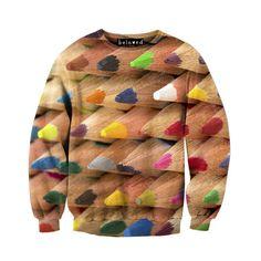 Beloved Shirts Colored Pencils Unisex Sweatshirt.  Art