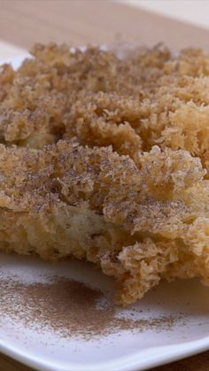 "Different from fried bananas in general, Pisang Goreng Kipas is fried bananas wrapped in ""kremes"" or ""kremesan"". Indonesian Desserts, Asian Desserts, Cookie Recipes, Snack Recipes, Dessert Recipes, Traditional Cakes, English Food, Unique Recipes, Creative Food"