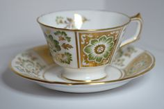 Royal Crown Derby Tea Cup Derby China Green Derby by TeaAtTheBrits