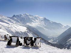 Domaine de Balme Vallorcine  - Office de Tourisme de Chamonix Mont Blanc   Skiing in Chamonix, Le Tour area   Mountain views   Winter in the Sunshine