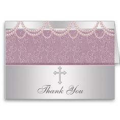 Pink Cross Girls Cristening Thank You Cards! Make your own foldedcards more personal to celebrate the arrival of a new baby. Just add your photos and words to this great design. Thank You Card Design, Custom Thank You Cards, Appreciation Quotes Relationship, Baptism Thank You Cards, First Communion Cards, Smudging, Paper Texture, Make Your Own, New Baby Products