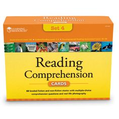 Reading Comprehension Card Set, Grade 5 - 5th Grade + - Shop by Grade - Teachers - Learning Resources®