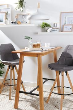 Stühle, Natural-Scandi, MyHome, 2020, Frühling, Magazin Furniture, Natural, Home Decor, Nordic Style, Minimalist Design, Counter Height Stools, Grey, Decoration Home, Room Decor