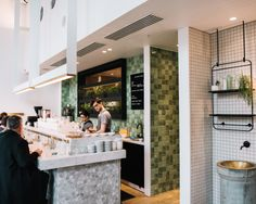 Lately, I've been selecting my cafes of choice based on how absolutely stunning they are. If you're like me, check out Melbourne's best cafes for design fiends here. Table And Chairs, A Table, Melbourne Cafe, Tiles Texture, Cool Cafe, Places To Eat, Kettle, Interior Inspiration, Absolutely Stunning