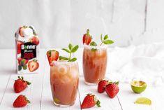 Kesäpäivän mansikkamocktail Refreshing Summer Cocktails, Tea Cocktails, Summer Drinks, Cocktail Recipes, Pisco Sour, Gazpacho, Meet Recipe, Easy French Recipes, Sweet Tea Recipes