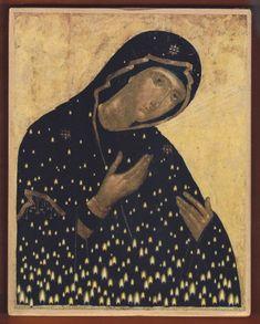 "Virgin Mary ""Keriotissa"" by Christos Bokoros Byzantine Icons, Byzantine Art, Religious Icons, Religious Art, Orthodox Christianity, Art Icon, Orthodox Icons, Medieval Art, Renaissance Art"