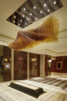 Best Place to find hotel lobby design Lobby Interior, Interior Architecture, Interior Design, Lobby Design, Design Hotel, Hotel Four Seasons, Design Boutique, Ceiling Installation, Parametric Design