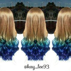 Blue Ombree. Mermaid hair.
