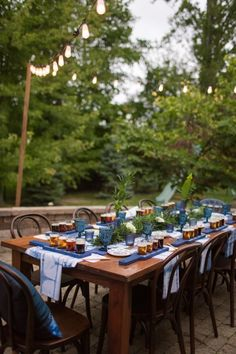 Chic outdoor tablescape