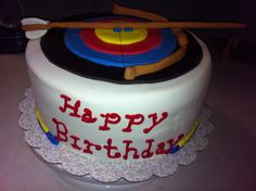 Right on target!!  Archery cake.