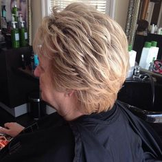 Long Pixie Hairstyle For Older Women