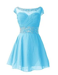 Dresstells Short Chiffon Elegant Simple Ruffled Pleated Beads Cocktail Prom Bridesmaid Party Formal Dress Blue Size 6 Dresstells http://www.amazon.co.uk/dp/B00OB63ZF6/ref=cm_sw_r_pi_dp_Zvtcvb0XDA17N