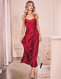 Pure Silk Strappy Long Nightdress | M&S