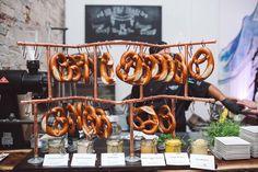 A wedding pretzel station? Genius!
