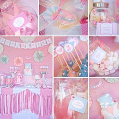 Vintage Hot Air Balloon baby shower printables from SunshineParties...x