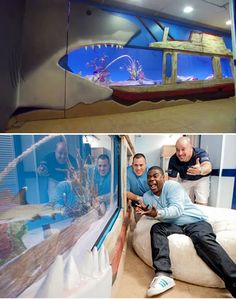 Animal Planet's 'Tanked' designed this tank for Tracy Morgan. Acrylic made possible by Lucite International.
