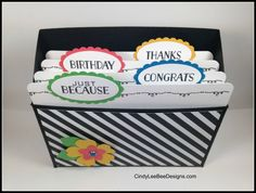 Cindy Brumbaugh, Independent Stampin' Up Demonstrator 3d Paper Projects, Paper Crafts, Greeting Card Storage, Envelope Punch Board, Card Organizer, Bee Design, Craft Show Ideas, Scrapbook Cards, Scrapbooking