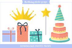 download birthday photo props