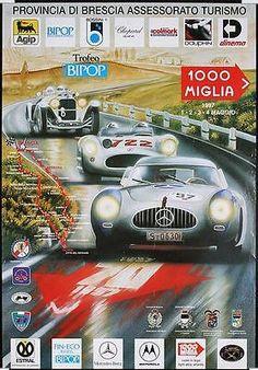 Vintage 1997 Mille Miglia Motor Racing Poster
