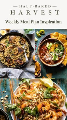Half Baked Harvest, Dandelion Recipes, Cooking Recipes, Healthy Recipes, Pasta, Meals For The Week, Main Meals, Meal Planning, Food Inspiration