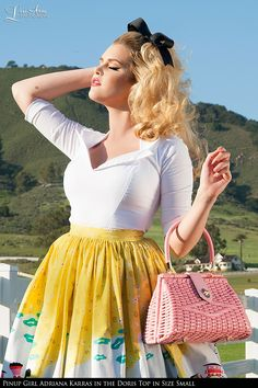 Pinup Couture- Doris Top in White from Pinup Couture   Pinup Girl Clothing