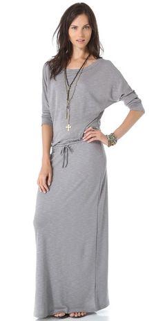 Lanston Boyfriend Maxi Dress. It's like a snuggie that you can wear in public!!