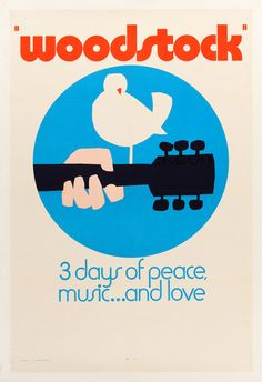 A great poster from the documentary made at Woodstock - 3 legendary days of Peace, Music.and Love! Our amazing selection of Woodstock posters is totally Far Out! Need Poster Mounts. Festival Woodstock, Woodstock 1970, Woodstock Poster, Woodstock Hippies, Woodstock Concert, Joe Cocker, Cafe Concert, Concert Rock, Musikfestival Poster