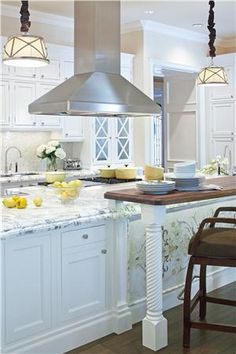 Traditional (Victorian, Colonial) Kitchen by Jamie Herzlinger