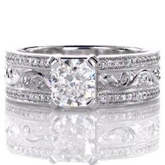 Design 2486 - Knox Jewelers - Minneapolis Minnesota - Hand Engraved Engagement Rings - Flora, Hand Engraved - Large Image