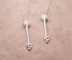Silver Arrow Necklace. Hello cupid! #silver #jewelry
