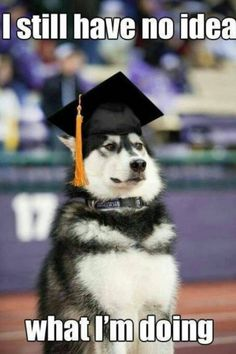 Don't let this be you at graduation! Get involved in the career planning process early.