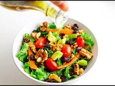 Winter Kale Walnut and Cranberry Salad ~ Easy, wholesome ingredients! | Tastefulventure.com