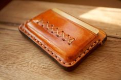 My first job with the leather                        Leather credit card wallet