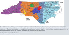 North Carolina Stereotype Map