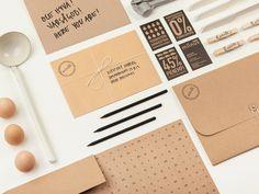 Stationery designed by Bond for Puustilli's new reductionist kitchen Miinus