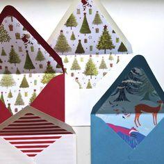 Cards & Envelopes : DIY Patterned Envelope Liners
