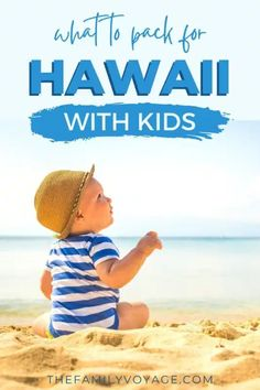 Are you planning a Hawaii family vacation? You won't want to miss this Hawaii packing list for kids! CLICK HERE to find out what you need to bring for an amazing Hawaii family trip, including reef-safe sunscreen for kids, gear for Hawaii with a baby and essentials for visiting Hawaii with a toddler. | Hawaii with kids | Oahu with kids | Maui with kids | Big Island with kids | Kauai with kids | Hawaii travel tips Beach Vacation Packing List, Hawaii Vacation, Packing Tips For Travel, Travel With Kids, Family Travel, Travel Car Seat, Hawaii Travel Guide, Visit Hawaii, Visit Usa