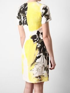 CHRISTOPHER KANE - Floral Printed Silk Dress