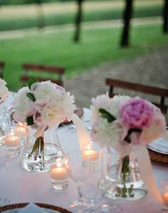 WeddingChannel Galleries: White and Pink Reception Flowers