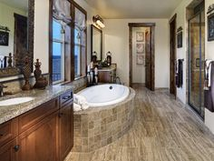 Transitional Bathrooms from Celebrity Communities on HGTV
