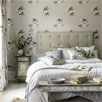 Sanderson - Traditional to contemporary, high quality designer fabrics and wallpapers | Products | British/UK Fabric and Wallpapers | Rosa (DWAP216279) | Waterperry Wallpapers